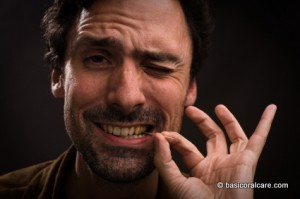 Man with toothpick in mouth